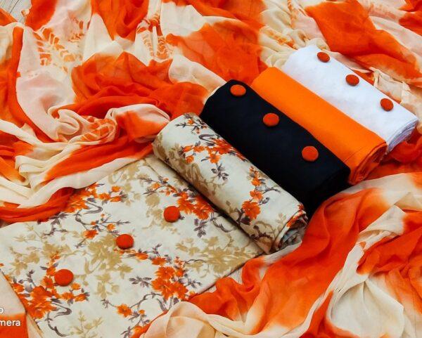 Incredible 3 Top Cotton Printed Salwar Suit
