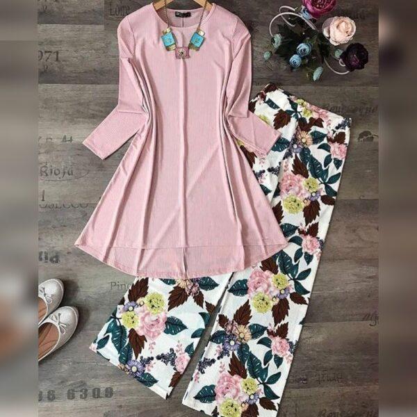 Wonderful Baby Pink American Crap Digital Print Plazo & Top