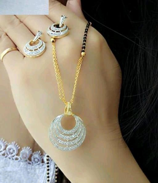 Beautiful Diamond MangalSutra Set