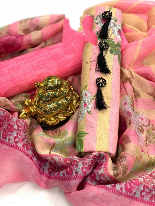 Dazzling Pink Colored PC Cotton Printed Salwar Suit
