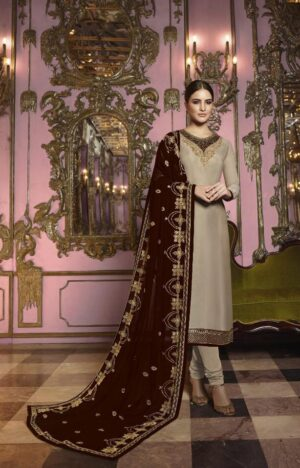 Beautiful Maroon Heavy Rangoli Silk With Embroidered Stich Work Salwar Suit