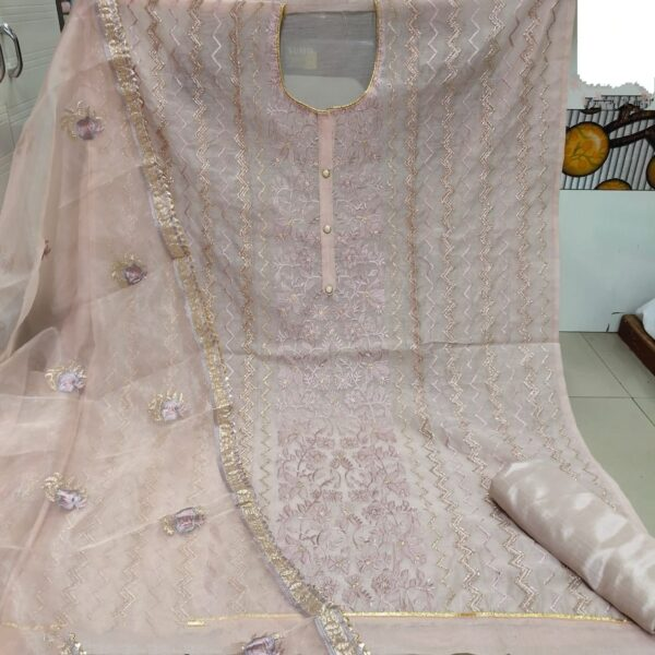 Alluring Peach Colored Heavy Modal With Embroidered Work Salwar Suit