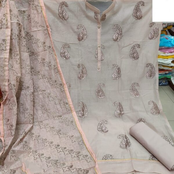 Knockout Light Peach Modal With Embroidered Work Salwar Suit