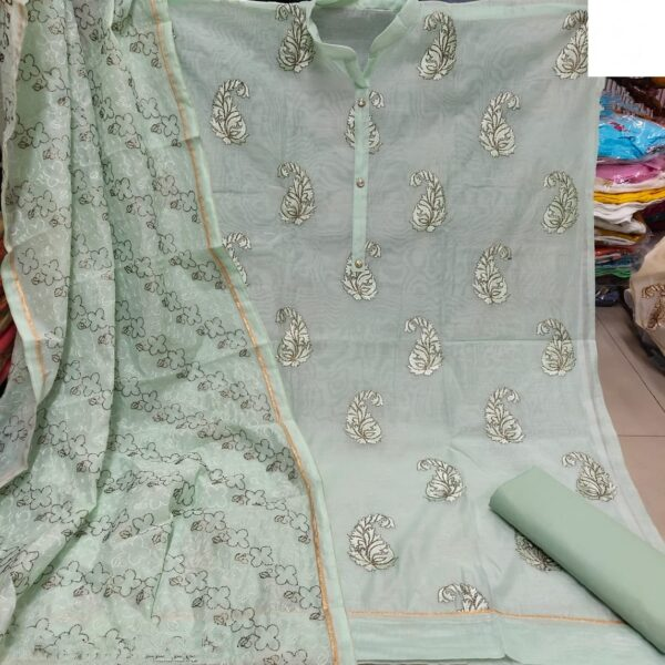 Bootylicious Light Sea Green Heavy Modal Embroidered Work Salwar Suit
