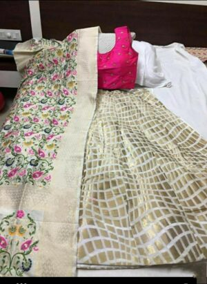 Comely Radiant Rani Colored Banarasi With Brocade Lehenga Choli