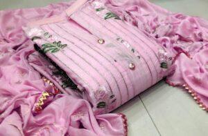 Amazeballs Pink Colored Modal Multi Work Salwar Suit