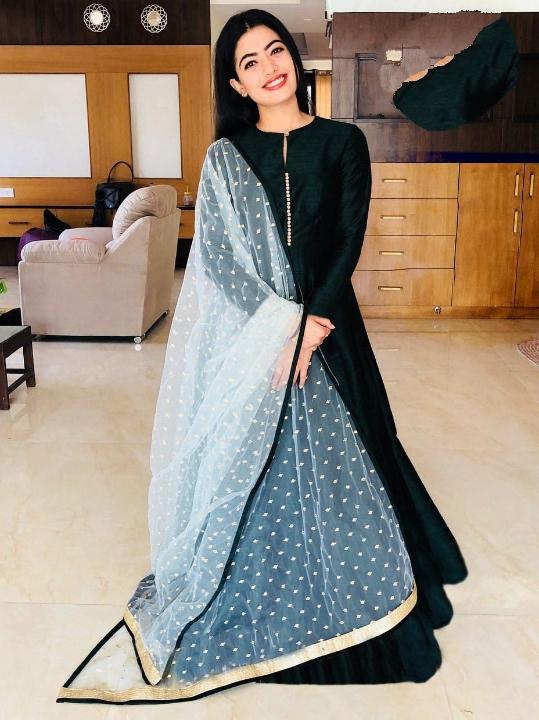 Sensational Black Banglori Silk With Lining Gown