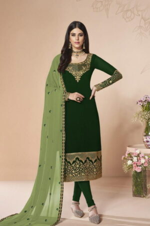 Radiant Classy Green Georgette With Embroidered Work Salwar Suit