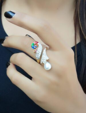 Alluring Multi Colored Diamond Imitation Ring
