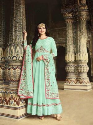 Magnificent Pista Silk With Diamond Embroidered Work New Salwar suit Design Online