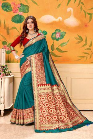 Gorgeous Rama Kota Silk Banarasi Wedding Wear Designer Fancy Saree Online