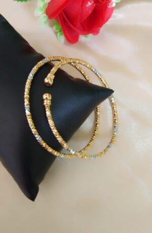 Devastating Golden Silver Colored Artificial Bangles Set