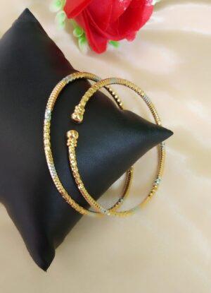 Glorious Golden & Silver Plated Artificial Bangles Set