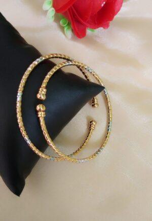 Captivating Silver & Golden Colored Imitation Bangles Set
