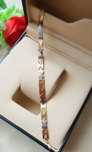 Amazeballs Silver & Golden Artificial Bracelet