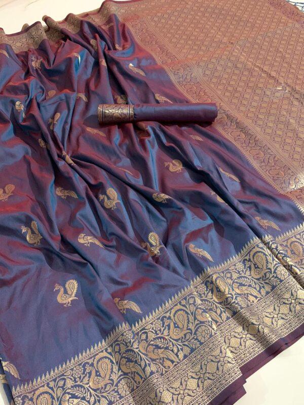 Devastating Purple Soft Silk With Rich Pallu Saree