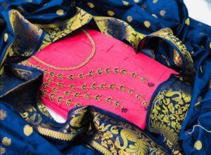 Sensational Pink Chanderi Khatli Work Salwar Suit