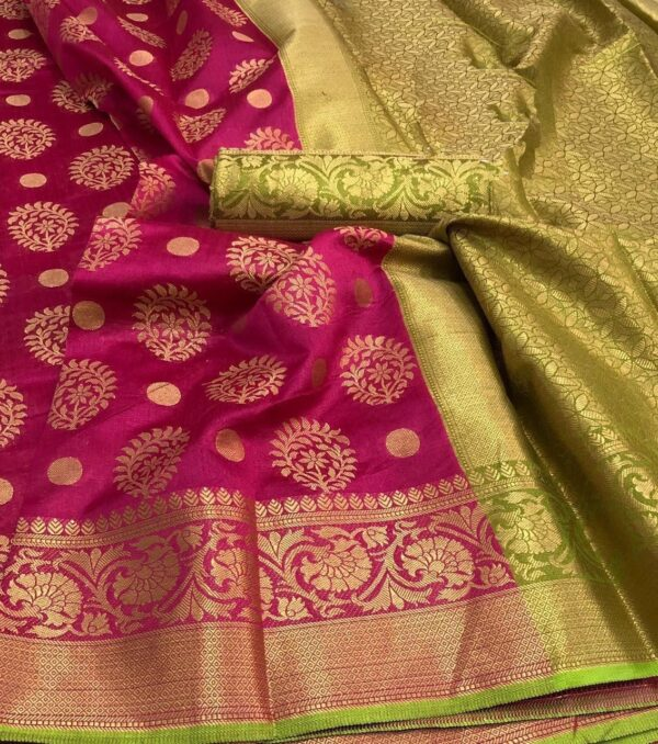 Charming Rani Crystal Silk With Rich Saree Designer Saree
