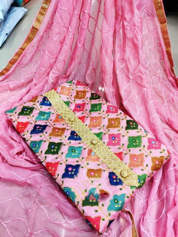 Gorgeous Pink Fancy Printed Designer Salwar