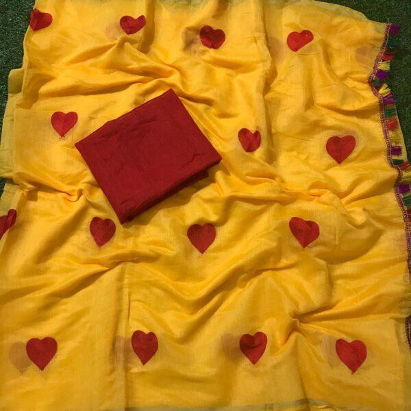 Captivating Yellow Chanderi Silk With Embroidered Saree Designer Saree