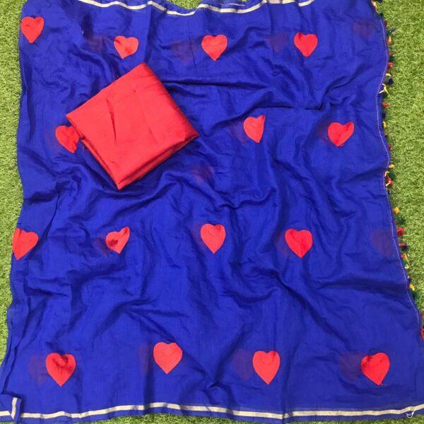 Exquisite Royal Blue Chanderi Silk With Designer Work Designer Saree