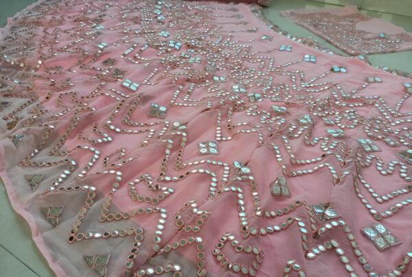 Radiant Baby Pink Color Wedding Wear Designer Georgette Embroidered Lehenga Choli