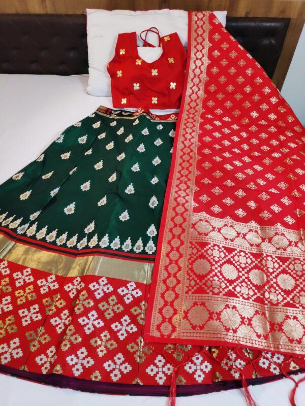 Bewitching Red Color Function Wear Brocade Fancy Silk Banarasi Designer Lehenga Choli