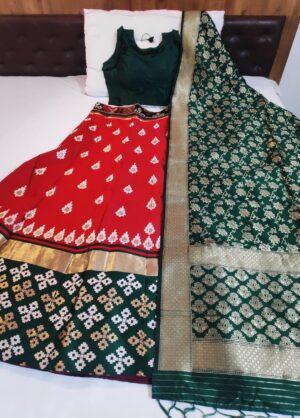 Charming Dark Green Color Designer Banarasi Silk Fancy Brocade Lehenga Choli