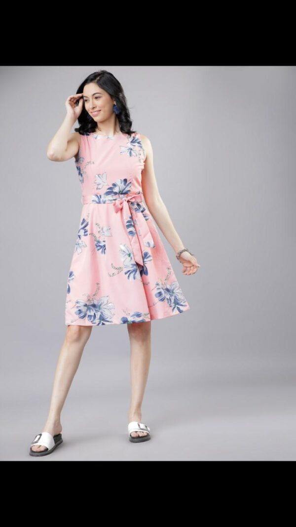 Remarkable Baby Pink Color Full Stitched Digital Printed Designer Heavy Crape Western Wear Gown