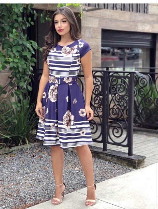 Outstanding Dark Blue Color Wear Full Stitched Heavy Crape Digital Printed Designer Western Wear Gown