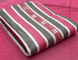 Alluring Pink Color Designer Modar Silk Khatli Work Printed Salwar Kameez